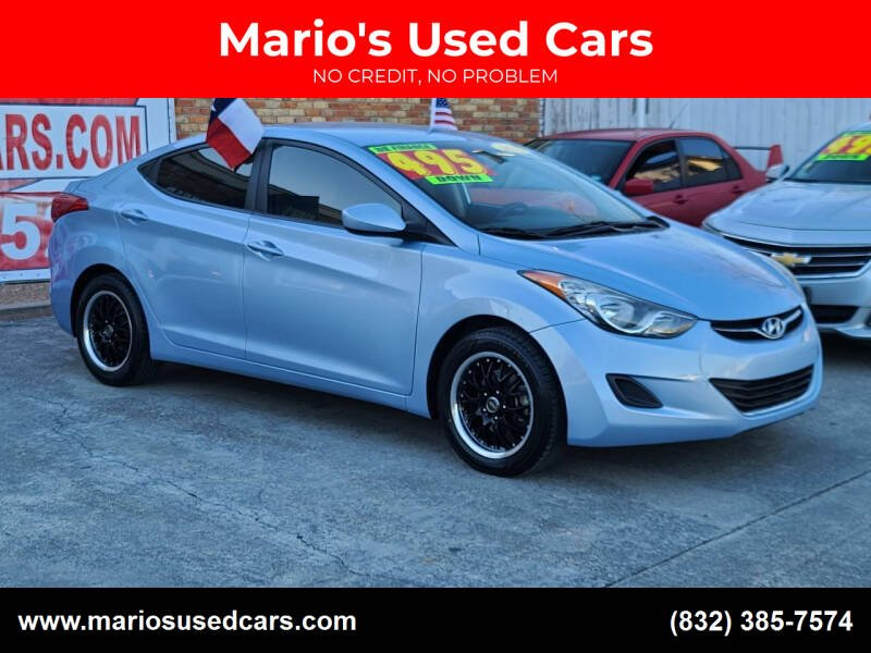 2013 Hyundai Elantra for sale at Mario's Used Cars - South Houston Location in South Houston TX