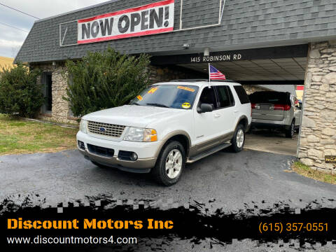 2004 Ford Explorer for sale at Discount Motors Inc in Old Hickory TN
