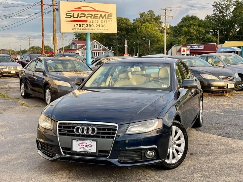 2011 Audi A4 for sale at Supreme Auto Sales in Chesapeake VA