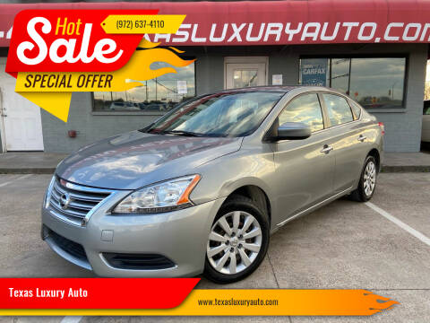2014 Nissan Sentra for sale at Texas Luxury Auto in Cedar Hill TX