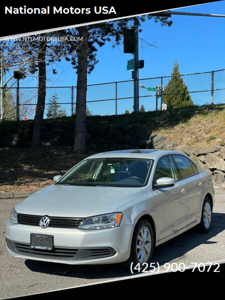 2011 Volkswagen Jetta for sale at National Motors USA in Federal Way WA