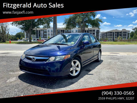 2008 Honda Civic for sale at Fitzgerald Auto Sales in Jacksonville FL
