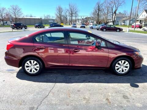 2012 Honda Civic for sale at Jacobs Motors LLC in Bellefontaine OH