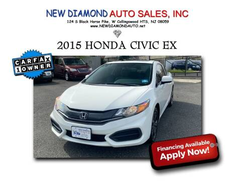 2015 Honda Civic for sale at New Diamond Auto Sales, INC in West Collingswood NJ