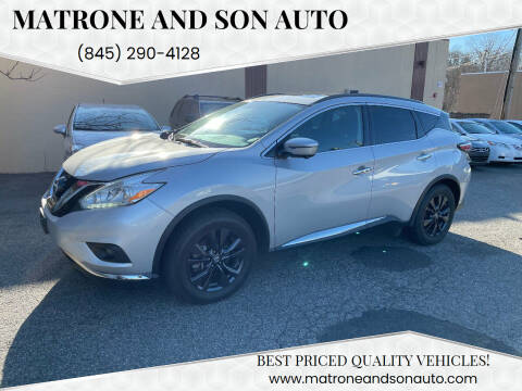2017 Nissan Murano for sale at Matrone and Son Auto in Tallman NY