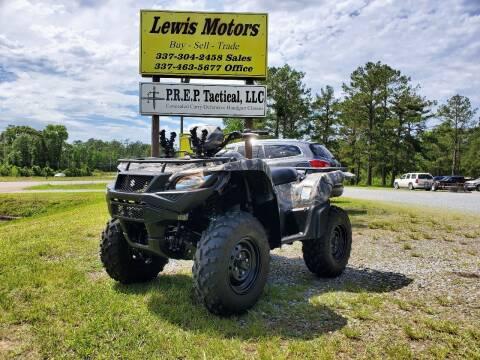 2018 Suzuki KINGQUAD 500 for sale at Lewis Motors LLC in Deridder LA