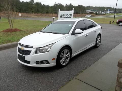 2012 Chevrolet Cruze for sale at Anderson Wholesale Auto in Warrenville SC