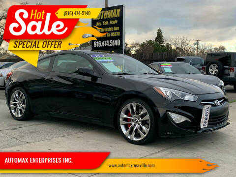 2014 Hyundai Genesis Coupe for sale at AUTOMAX ENTERPRISES INC. in Roseville CA