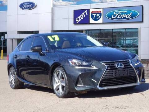2017 Lexus IS 300 for sale at Szott Ford in Holly MI