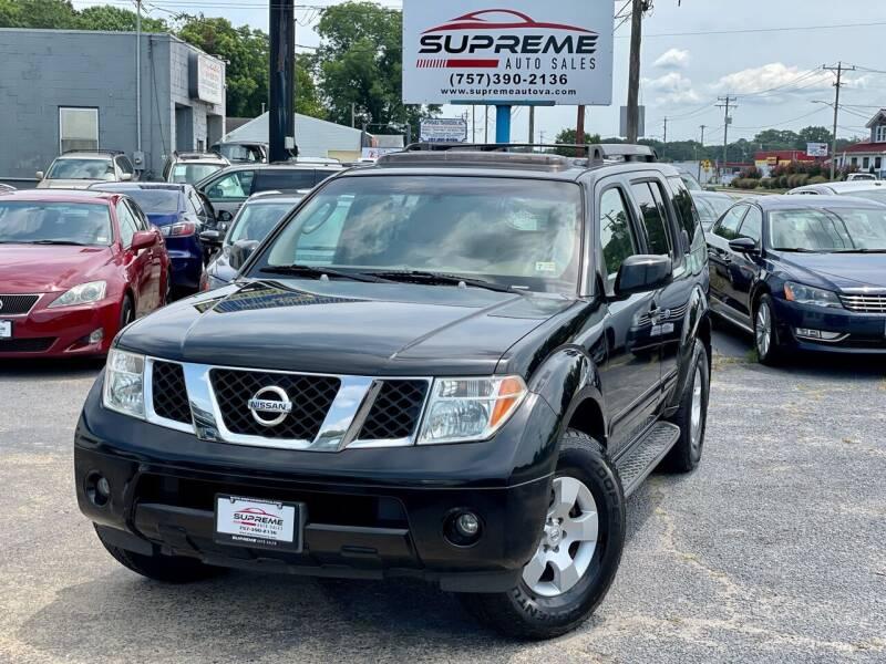 2007 Nissan Pathfinder for sale at Supreme Auto Sales in Chesapeake VA