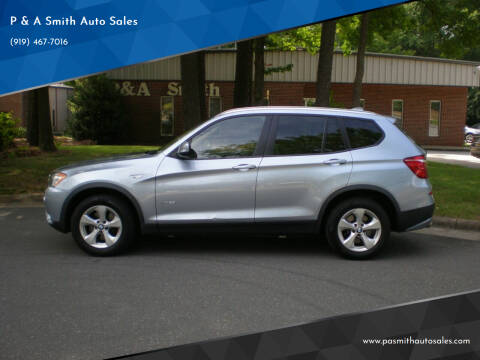 2011 BMW X3 for sale at P & A Smith Auto Sales in Cary NC