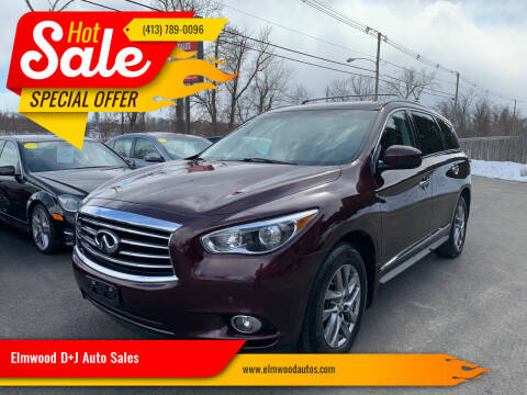 2013 Infiniti JX35 for sale at Elmwood D+J Auto Sales in Agawam MA