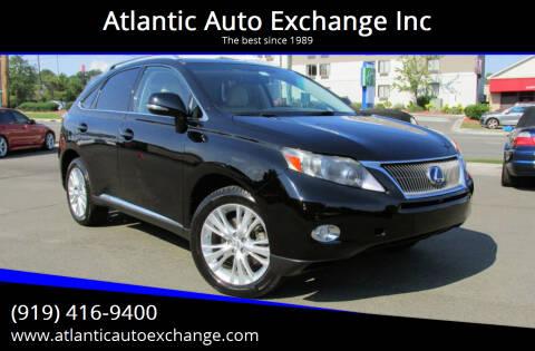 2011 Lexus RX 450h for sale at Atlantic Auto Exchange Inc in Durham NC
