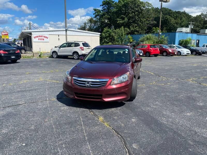 2012 Honda Accord for sale at M & J Auto Sales in Attleboro MA