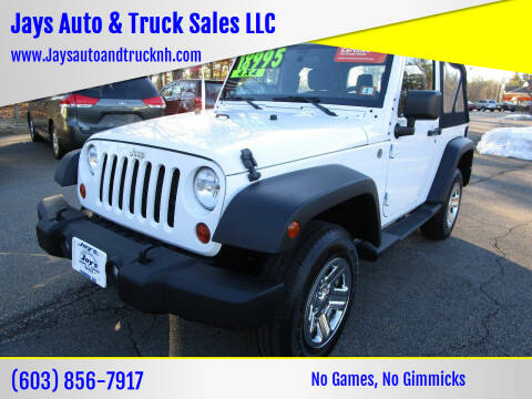 2013 Jeep Wrangler for sale at Jays Auto & Truck Sales LLC in Loudon NH