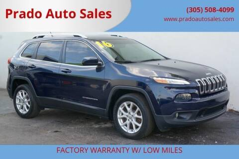 2016 Jeep Cherokee for sale at Prado Auto Sales in Miami FL