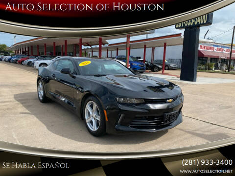 2018 Chevrolet Camaro for sale at Auto Selection of Houston in Houston TX