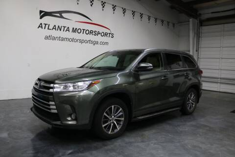 2017 Toyota Highlander for sale at Atlanta Motorsports in Roswell GA