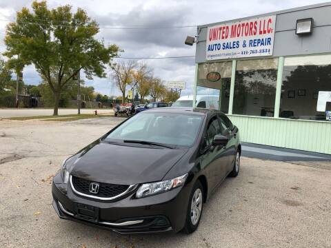 2014 Honda Civic for sale at United Motors LLC in Saint Francis WI