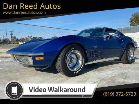 1971 Chevrolet Corvette for sale at Dan Reed Autos in Escondido CA