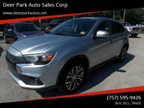 2016 Mitsubishi Outlander Sport for sale at Deer Park Auto Sales Corp in Newport News VA