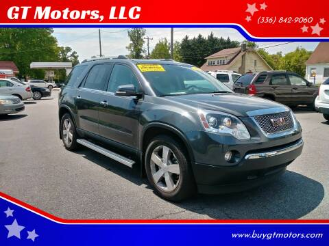 2011 GMC Acadia for sale at GT Motors, LLC in Elkin NC