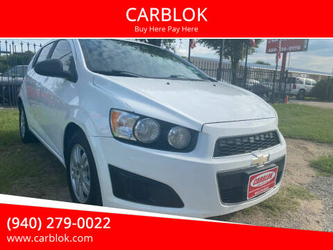 2015 Chevrolet Sonic for sale at CARBLOK in Lewisville TX
