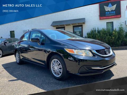 2014 Honda Civic for sale at METRO AUTO SALES LLC in Blaine MN