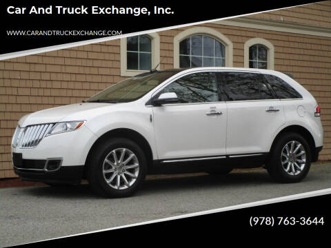 2013 Lincoln MKX for sale at Car and Truck Exchange, Inc. in Rowley MA