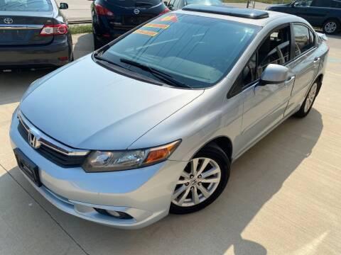2012 Honda Civic for sale at Raj Motors Sales in Greenville TX