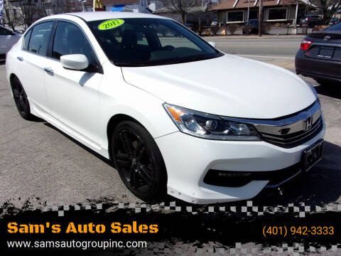2017 Honda Accord for sale at Sam's Auto Sales in Cranston RI