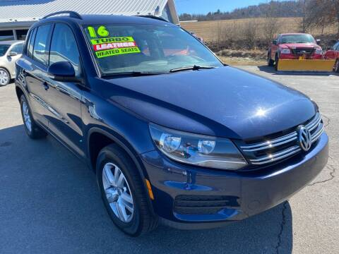 2016 Volkswagen Tiguan for sale at HACKETT & SONS LLC in Nelson PA