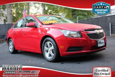 2014 Chevrolet Cruze for sale at Warner Motors in East Orange NJ