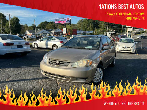2004 Toyota Corolla for sale at Nations Best Autos in Decatur GA