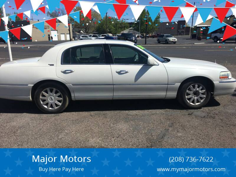 2006 Lincoln Town Car for sale at Major Motors in Twin Falls ID
