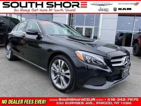 2018 Mercedes-Benz C-Class for sale at South Shore Chrysler Dodge Jeep Ram in Inwood NY