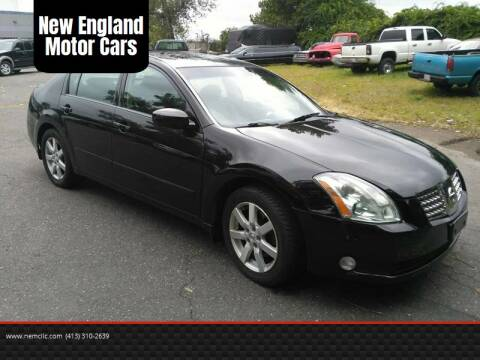 2005 Nissan Maxima for sale at New England Motor Cars in Springfield MA