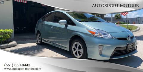 2015 Toyota Prius for sale at AUTOSPORT MOTORS in Lake Park FL