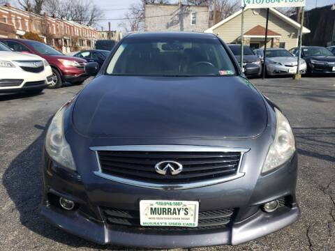 2011 Infiniti G37 Sedan for sale at Murrays Used Cars in Baltimore MD