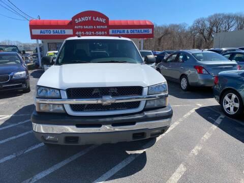 2005 Chevrolet Silverado 1500 for sale at Sandy Lane Auto Sales and Repair in Warwick RI