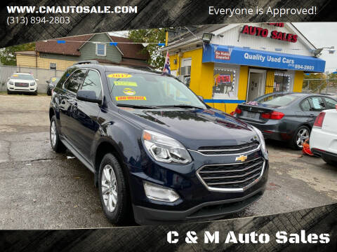 2017 Chevrolet Equinox for sale at C & M Auto Sales in Detroit MI