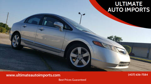 2008 Honda Civic for sale at ULTIMATE AUTO IMPORTS in Longwood FL
