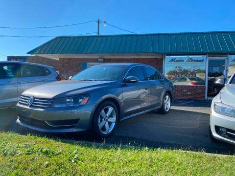 2012 Volkswagen Passat for sale at Main Street Auto LLC in King NC