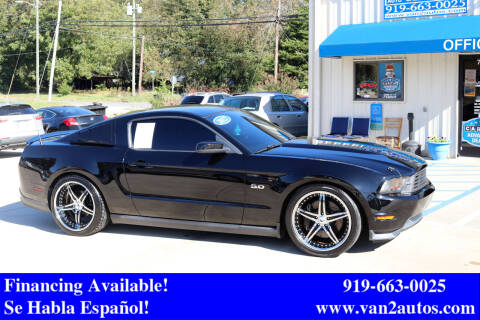 2012 Ford Mustang for sale at Van 2 Auto Sales Inc in Siler City NC