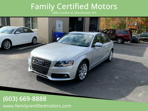 2012 Audi A4 for sale at Family Certified Motors in Manchester NH