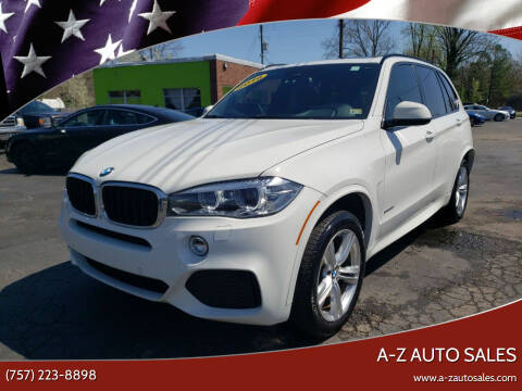 2016 BMW X5 for sale at A-Z Auto Sales #2 - Service Center in Newport News VA