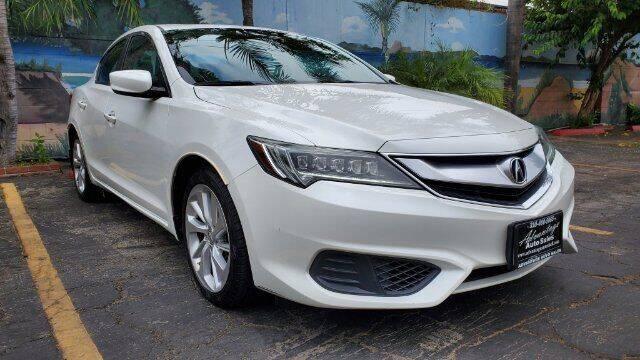 2016 Acura ILX for sale at ADVANTAGE AUTO SALES INC in Bell CA