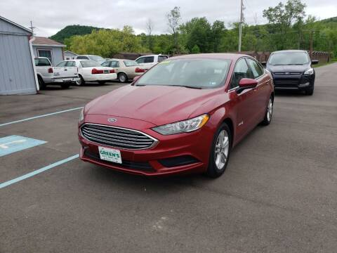 2018 Ford Fusion Hybrid for sale at Greens Auto Mart Inc. in Wysox PA