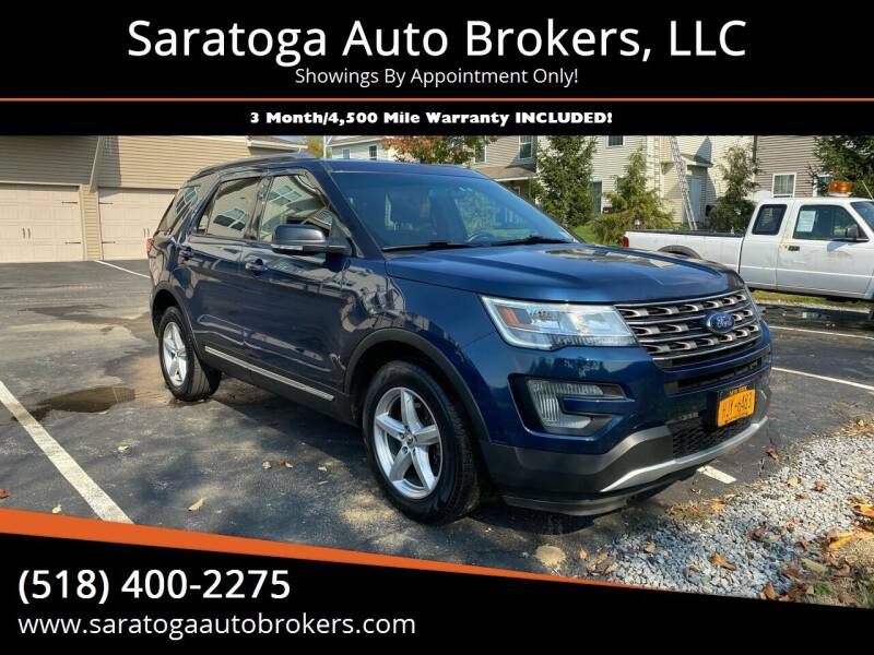 2017 Ford Explorer for sale at Saratoga Auto Brokers, LLC in Wilton NY