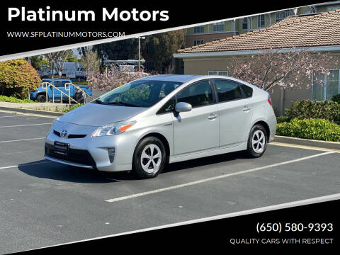 2013 Toyota Prius for sale at Platinum Motors in San Bruno CA